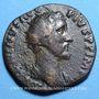 Monnaies Antonin le Pieux (138-161). Dupondius. Rome, 156-157. R/: la Providence