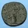Monnaies Antonin le Pieux (138-161). Sesterce. Rome, 144. R/: la Paix
