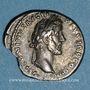 Monnaies Antonin le Pieux et Marc Aurèle. Denier. Rome, 141. R/: tête nue et buste drapé de Marc Aurèle