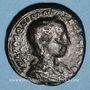 Monnaies Aquilia Sévéra, 2e épouse d'Elagabale. Dupondius. Rome. R/: la Joie