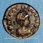 Monnaies Arcadius (383-408). 1/2 centénionalis. Constantinople, 3e officine. 383-384. R/: Victoire