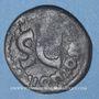 Monnaies Auguste (27 av. - 14 ap. J-C). As émis par M. Salvinus Otho. Rome, 7 av. J-C, contremarqué AVG