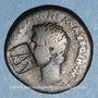 Monnaies Auguste (27 av. - 14 ap. J-C). As frappé au nom de P. Lurius Agrippa. Rome, 7 av. J-C. Contremarqué