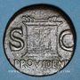 Monnaies Auguste (27 av. - 14 ap. J-C). As frappé sous Tibère. Rome, 31-37. R/: autel