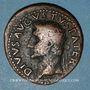 Monnaies Auguste (27 av. - 14 ap. J-C). As frappé sous Tibère. Rome, 31-37. R/: foudre ailé