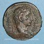 Monnaies Auguste (27 av. - 14 ap. J-C). As. Lyon, 8 av. J-C. Atelier auxiliaire. R/: autel