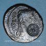 Monnaies Auguste (27 av. - 14 ap. J-C). As. Lyon, vers 10-7 av. J-C ; contremarque : CARN. dans un cercle