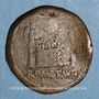 Monnaies Auguste (27 av. - 14 ap. J-C). As. Lyon, vers 10-7 av. J-C ; contremarqué du monogramme de Varus