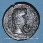 Monnaies Auguste (27 av. - 14 ap. J-C). As. Lyon vers 10-7 av. J-C, contremarqué RE sous Auguste