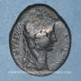 Monnaies Auguste (27 av. - 14 ap. J-C). As. Lyon, vers 10-7 av. J-C ; contremarqué TIB.C.  sous  Auguste