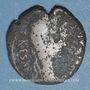 Monnaies Auguste (27 av. - 14 ap. J-C). As. Lyon, vers 10-7 av. J-C ; contremarqué TIB sous Tibère