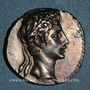Monnaies Auguste (27 av. - 14 ap. J-C). Denier. Caesaraugusta, 19-18 av. J-C. R/: CAESAR AVGVSTVS