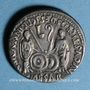 Monnaies Auguste (27 av. - 14 ap. J-C). Denier fourré imitation locale vers 2 av. - 4 ap. J-C