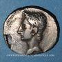Monnaies Auguste (27 av. - 14 ap. J-C). Denier fourré. Nîmes, 19-18 av. J-C. R/: Capricorne à droite