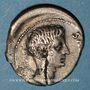 Monnaies Auguste (27 av. - 14 ap. J-C). Denier frappé par L. Lentulus. Rome, 12 av. J-C.