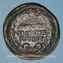 Monnaies Auguste (27 av. - 14 ap. J-C). Dupondius frappé au nom de L. Naevius Surdinus. Rome, 15 av. J-C