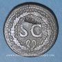 Monnaies Auguste (27 av. - 14 ap. J-C). Dupondius frappé sous Tibère. Rome, 22-26, contremarqué : NCAPR