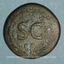 Monnaies Auguste (27 av. - 14 ap. J-C). Dupondius frappé sous Tibère. Rome, 22-26. R/: S-C dans une couronne