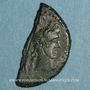 Monnaies Auguste et Agrippa. As (= dupondius coupé). Nîmes, 16 - 10 avant J-C
