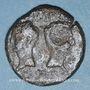 Monnaies Auguste et Agrippa. Dupondius. Nîmes, 10 - 14 après J-C ; contremarqué DD