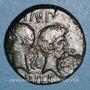 Monnaies Auguste & Agrippa. Dupondius. Nîmes, 16-10 av. J-C. Contremarqué DD de part et d'autre d'un palme