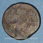 Monnaies Auguste et Agrippa. Dupondius. Nîmes, 16 - 10 avant J-C. Imitation locale contremarquée