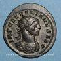 Monnaies Aurélien (270-275). Antoninien. Ticinum, 1ère officine, 274. R/: la Soleil