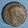 Monnaies Claude (41-54). Sesterce. Rome, 41-42, contremarqué NCAPR sous Néron