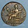 Monnaies Claude I (41-54). Dupondius. Rome, 41-42. R/: Cérès