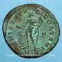 Monnaies Constance I Chlore, césar (293-305). Follis. Trèves, 2e officine, 302-303. R/: Génie