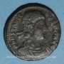 Monnaies Constance II (337-361). Centenionalis. Siscia, 5e officine, 345-346. R/: deux victoires