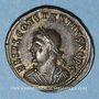 Monnaies Constance II, césar (324-337). Centénionalis. Héraclée, 1ère officine, 326. R/: porte de camp