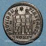 Monnaies Constance II, césar (324-337). Follis. Arles, 4e officine, 328-329. R/: porte de camp