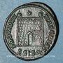 Monnaies Constance II, césar (324-337). Follis. Siscia, 1ère officine, 328-329. R/: porte de camp