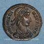 Monnaies Constant (337-350). 1/4 maiorina (?). Siscia, 1ère officine. 348-350. R/: Phénix