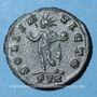 Monnaies Constantin I (307-337). 1/4 follis. Trèves, 1ère officine, 310-311. R/: le Soleil debout. Inédit (?)
