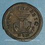 Monnaies Constantin I (307-337). Follis. Londres, 1ère officine, 307-310. R/: autel