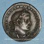 Monnaies Constantin I (307-337). Follis. Lyon, 1ère officine, 308-309. R/: Mars