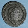 Monnaies Constantin I (307-337). Follis. Lyon, 1ère officine, 310-311. R/: le Soleil radié