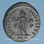 Monnaies Constantin I (307-337). Follis. Lyon, 1ère officine, 310-311. R/: le Soleil