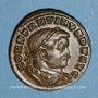 Monnaies Constantin I (307-337). Follis. Lyon, 1ère officine, 312. R/: le Soleil