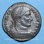 Monnaies Constantin I (307-337). Follis. Thessalonique, 4e officine, 318-319. R/: VOT.XX. / MVLT / XXX
