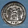 Monnaies Constantin I (307-337). Follis. Trèves, 2e officine, 318-319. R/: deux Victoires debout