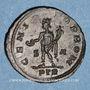 Monnaies Constantin I, césar (306-307). Follis. Trèves, 1ère officine, 307. R/: Génie tourelé