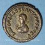 Monnaies Constantin II, césar (317-337). Centenionalis. Héraclée, 5e officine, 317. R/: porte de camp