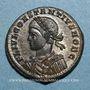 Monnaies Constantin II, césar (317-337). Centenionalis. Trèves, 2e officine, 327-328. R/: porte de camp