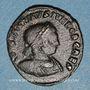Monnaies Constantin II, césar (317-337). Follis. Arles, 2e officine, 317-318. R/: le Soleil