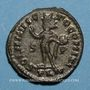 Monnaies Constantin II, césar (317-337). Follis. Londres, 1ère officine, 317. R/: le Soleil