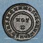 Monnaies Crispe, césar (317-326). Centenionalis. Thessalonique, 4e officine. 324. R/: couronne de laurier