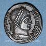 Monnaies Crispe, césar (317-326). Follis. Siscia, 5e officine, 321-324. R/: Couronne